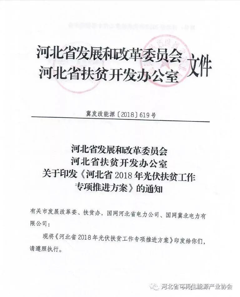 河北省下发2018年光伏扶贫工作专项推进方案 附各市相关指标