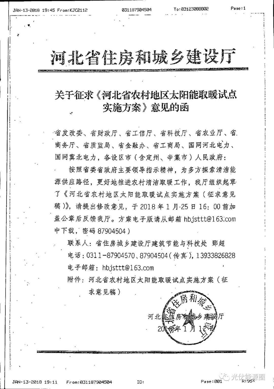 河北省又给大家发太阳能补贴了!0.2元/千瓦时!