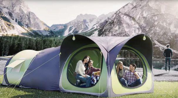 太阳能帐篷,户外野营再也不怕没电了
