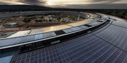 苹果创清洁发展纪录,所有业务运营100%由清洁能源提供动力